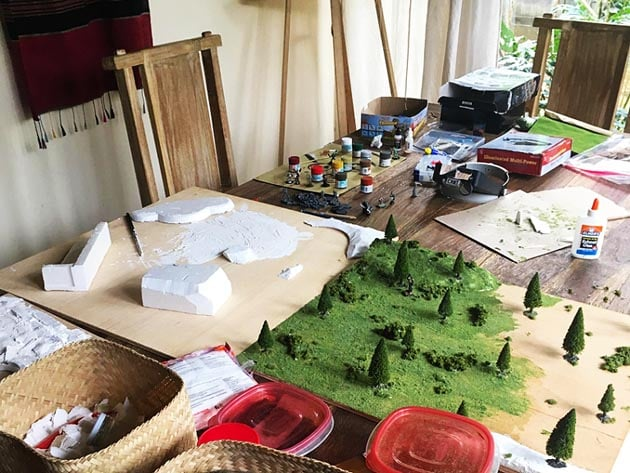 classroom making role playing game landscapes